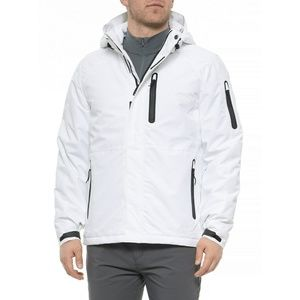 HFX Mens Poly Print Insulated Jacket White Small